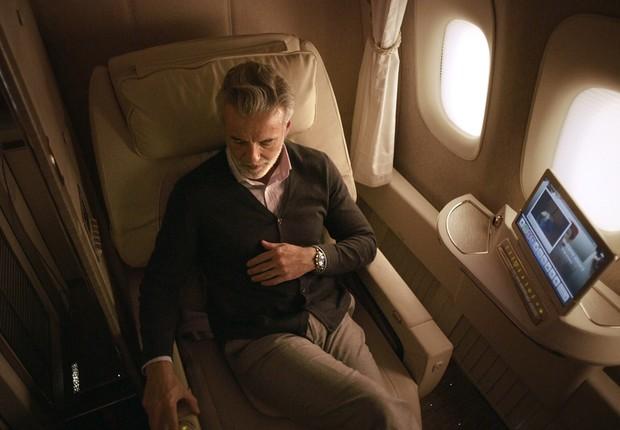 Cabine de primeira classe da Emirates (Foto: Emirates/Reprodução)