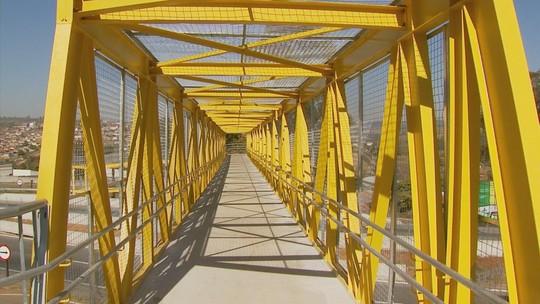 Concessionária que administra Fernão Dias inaugura passarela em trecho de Carmo da Cachoeira, MG