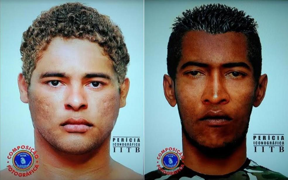 Dois homens são suspeitos de ferir foliões com agulha durante o carnaval no Grande Recife — Foto: PCPE/Divulgação