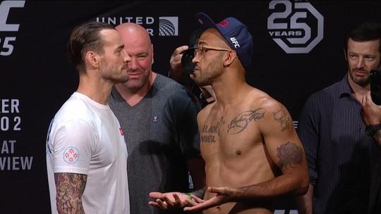 Mike Jackson e CM Punk fazem a pesagem do Peso meio-médio no UFC 225