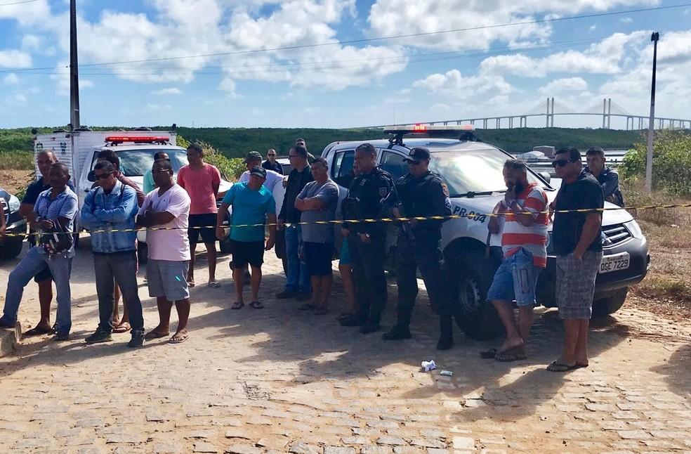 Crime aconteceu na manhã desta terça-feira (6) na Redinha, Zona Norte de Natal — Foto: Kleber Teixeira/Inter TV Cabugi