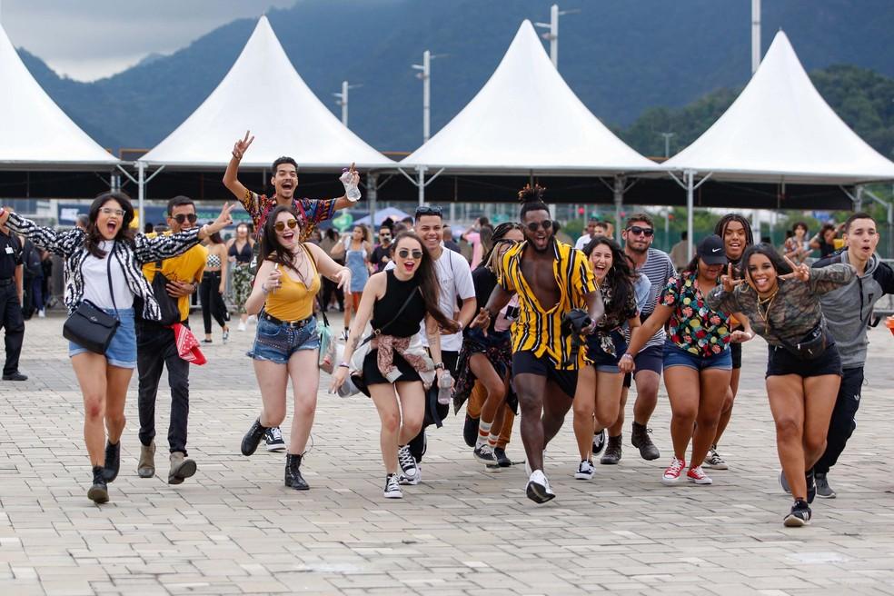 Movimentação durante o Rock in Rio 2019, realizado no Parque Olímpico do Rio de Janeiro  — Foto: Claudia Martini/Futura Press/Estadão Conteúdo