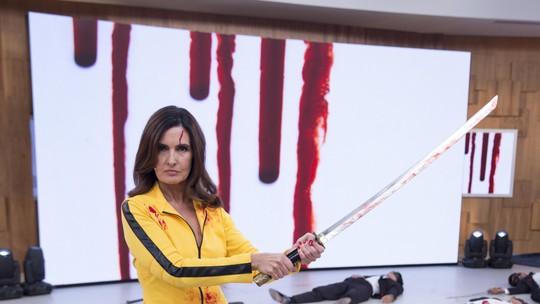 Fátima Bernardes se diverte em paródia de 'Kill Bill'