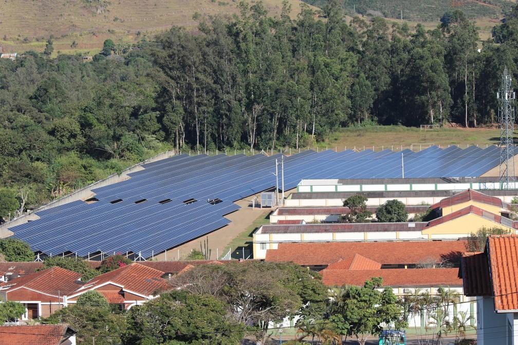 Maior usina de geração de energia solar é inaugurada em Santa Rita do Sapucaí (Foto: Luciano Ferraz/Portal da Cidade)