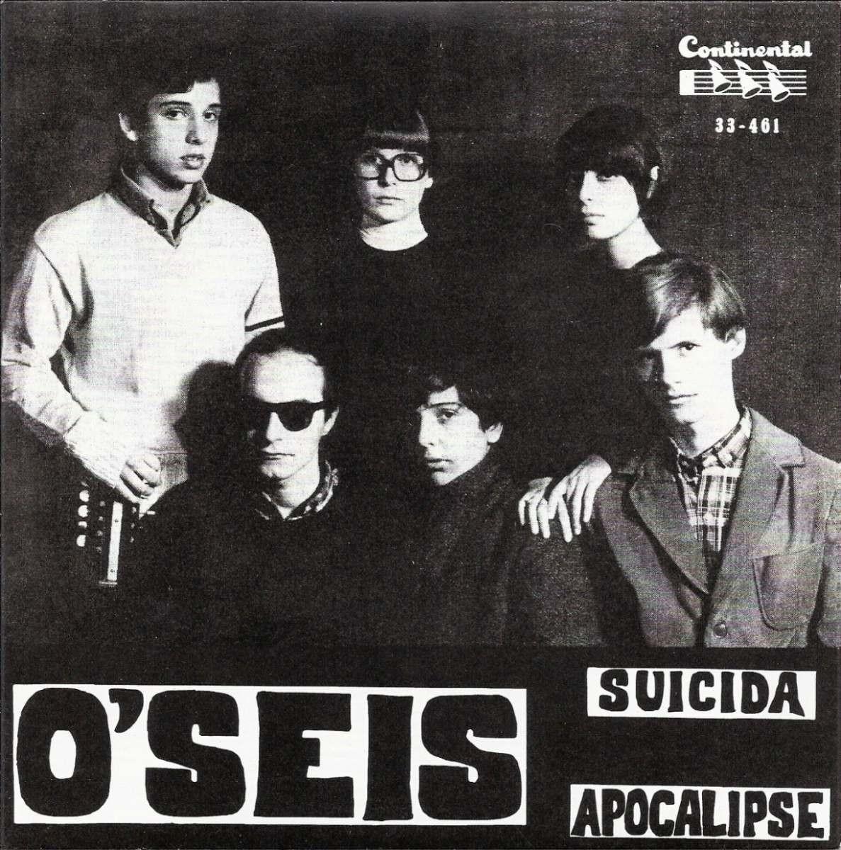 Grupo O'Seis, embrião do trio Os Mutantes, tem reeditado por selo inglês o raro compacto de 1966