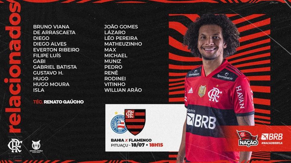 Relacionados Flamengo  — Foto: Reprodução