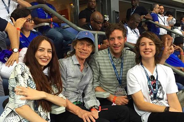 Lucas Jagger com o pai, Mick Jagger (Foto: Instagram)
