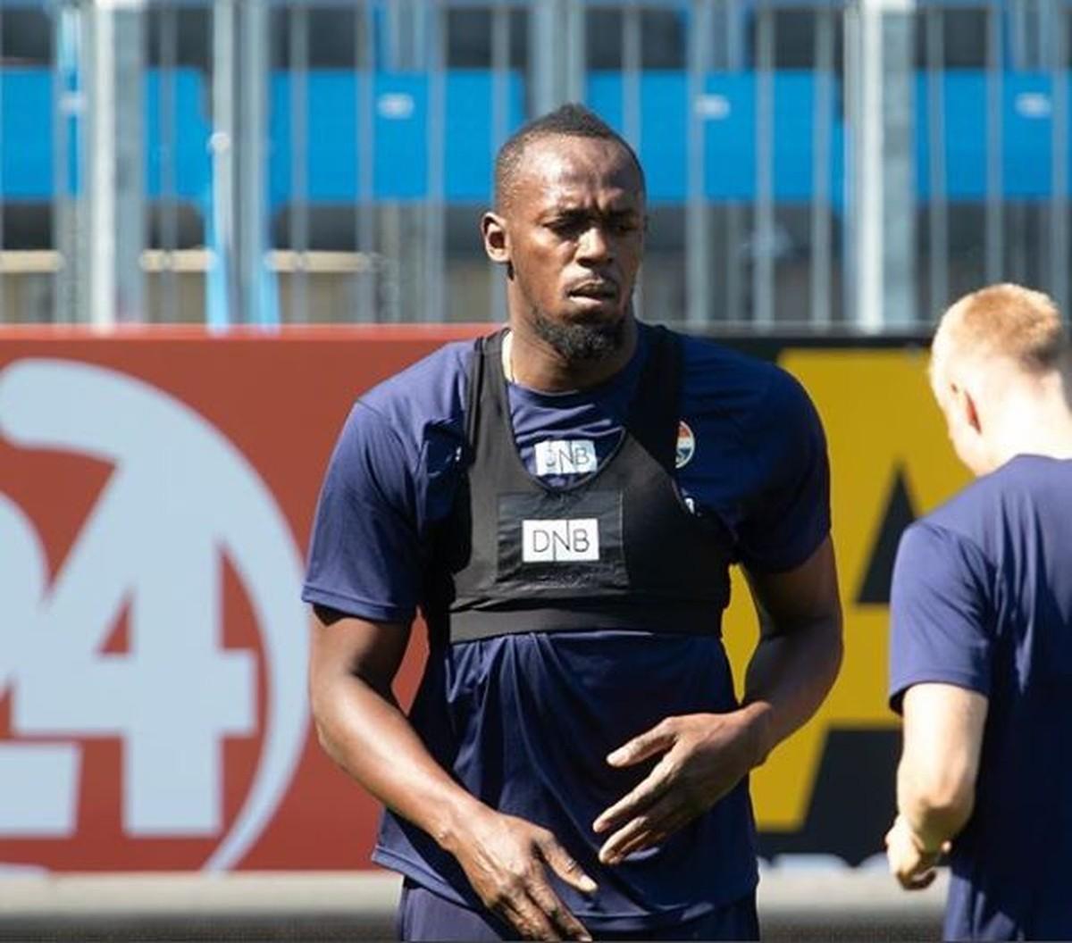 Bolt treina com time norueguês e sonha virar jogador