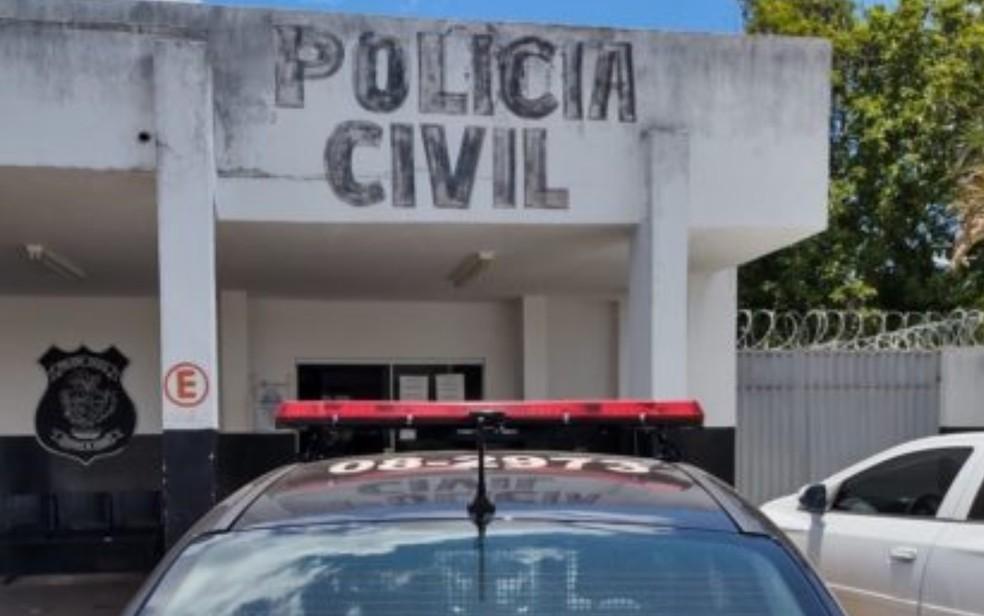 Delegacia da Polícia Civil em Senador Canedo — Foto: Reprodução/Polícia Civil
