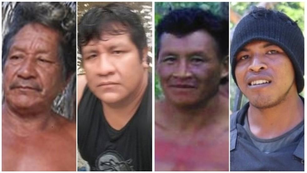Quatro dos treze indígenas assassinados em menos de quatro anos no Maranhão. — Foto: CIMI
