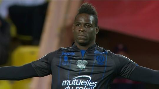 Balotelli faz dois, Nice vira, mas Falcao marca no fim, e Monaco busca empate