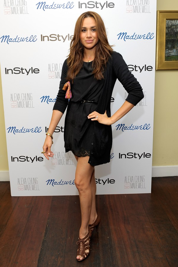 LOS ANGELES, CA - SEPTEMBER 21:  Actress Meghan Markle attends Madewell, Alexa Chung & InStyle celebrate the launch of The Alexa Chung For Madewell Fall 2011 Collection at Chateau Marmont on September 21, 2011 in Los Angeles, California.  (Photo by Charle (Foto: WireImage)