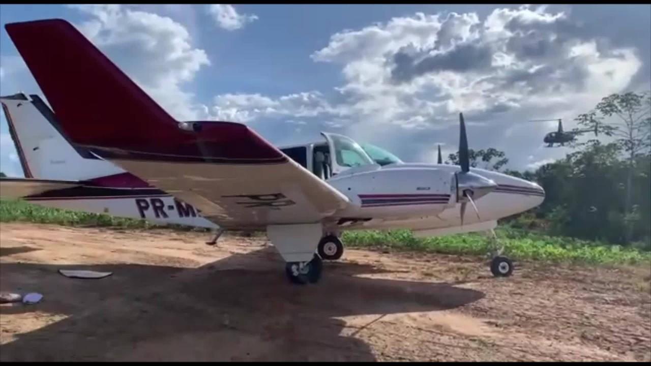 Avião com 579 kg de cocaína é interceptado em Porto Velho