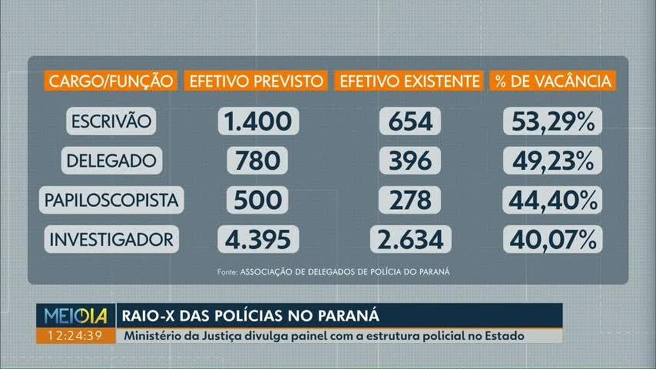 Raio-X da polícia no Paraná mostra qual é a estrutura para atender à população