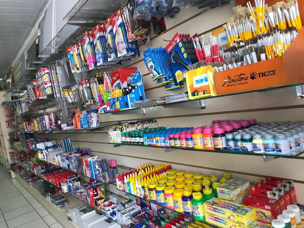 Os preços dos materiais escolares subiram, em média, 1,02%, segundo pesquisa — Foto: Divulgação