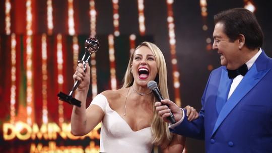 Paolla Oliveira revela que sempre se emociona no palco do 'Domingão': 'Só entro no palco chorando'
