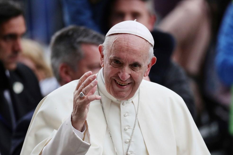 Papa Francisco durante visita a Dublin, na Irlanda, em imagem de arquivo (Foto: Aaron Chown/AP)