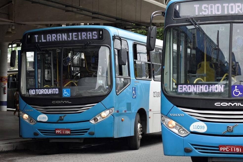 Ônibus do Transcol — Foto: Divulgação/Governo do ES