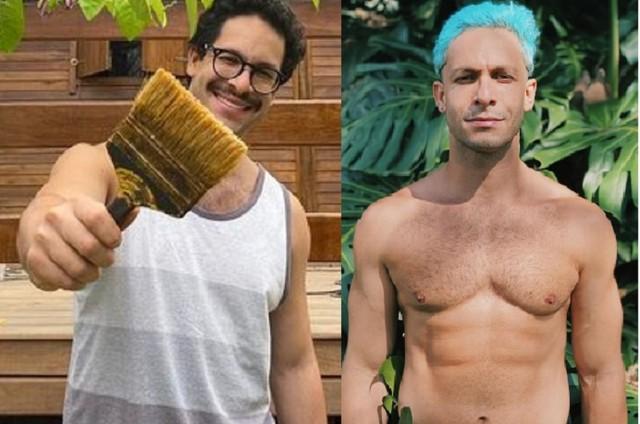 Rainer Cadete antes e depois de perder 10kg (Foto: Reprodução)