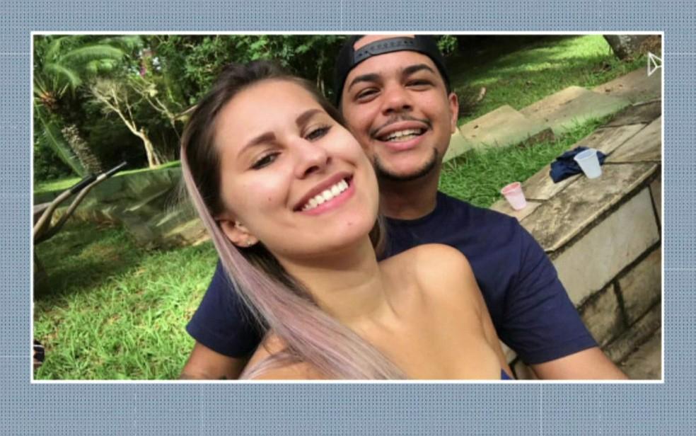 Isabela Miranda de Oliveira e o namorado  William Felipe Alves, que está preso — Foto: TV Globo/Reprodução
