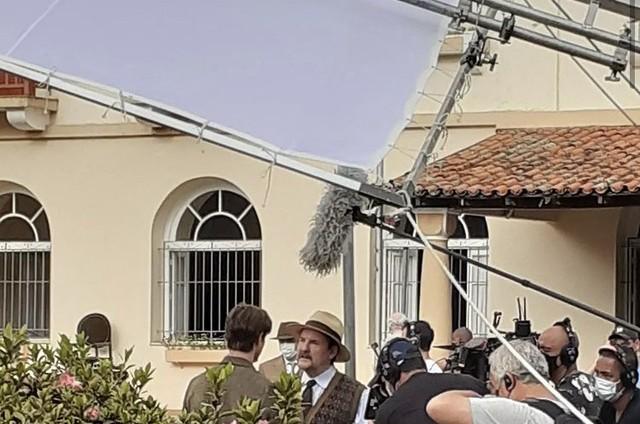 Antonio Calloni e Rafael Vitti gravam 'Além da ilusão' (Foto: Reprodução/ Instagram)