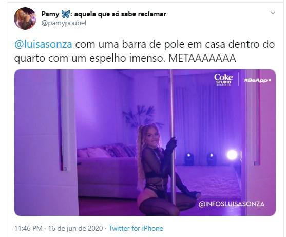 Em live, Luísa Sonza mostra detalhes da decoração de sua nova mansão em SP (Foto: Reprodução/Twitter)