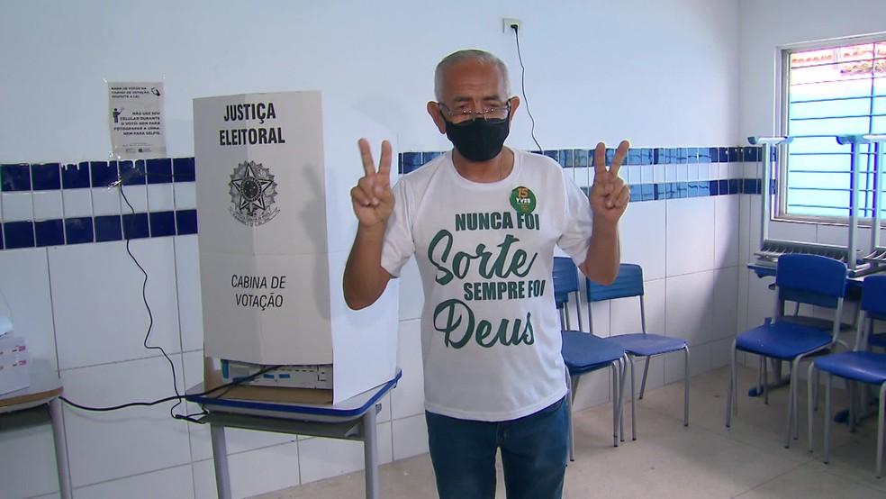 Yves Ribeiro, do MDB, foi eleito neste domingo (29) prefeito de Paulista — Foto: Reprodução/TV Globo
