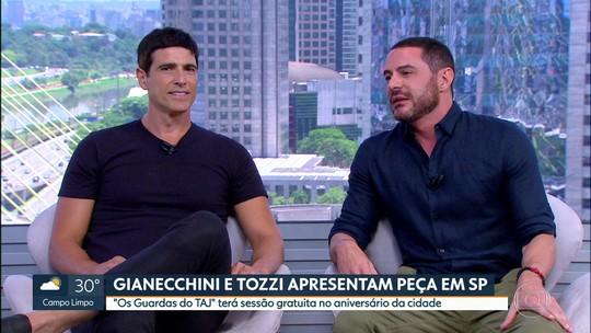 Gianecchini e Tozzi apresentam peça em SP