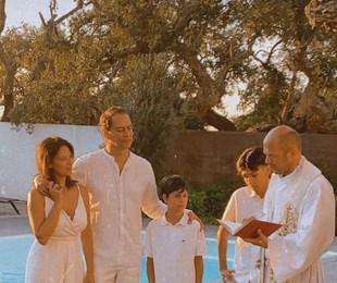 Marcello Antony com a mulher e os filhos, Louis e Lorenzo | Reprodução/Instagram