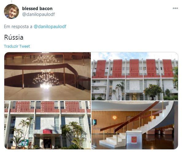 Embaixada da Rússia em Brasília (Foto: Reprodução)