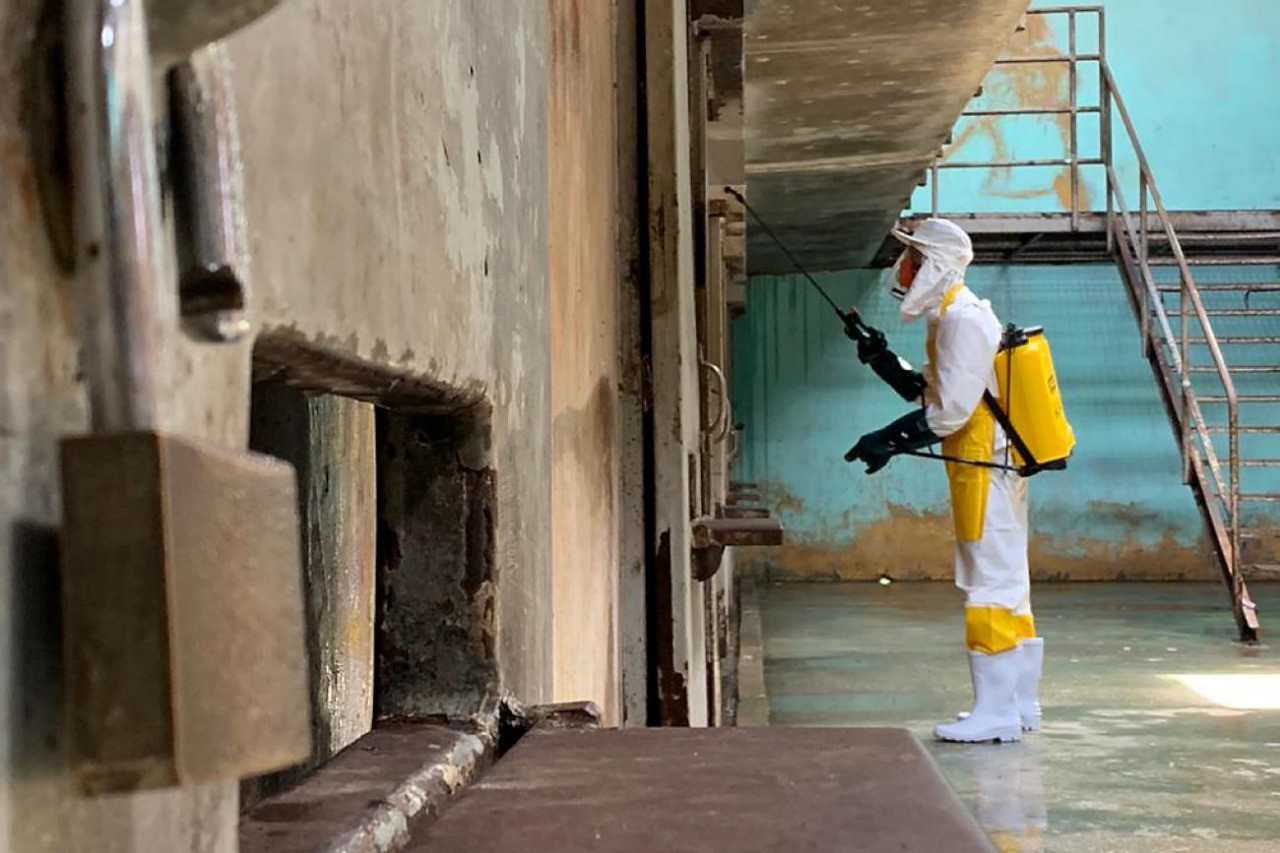 Casas penais do Pará passam por desinfecção diária para prevenção ao Covid-19, diz Seap