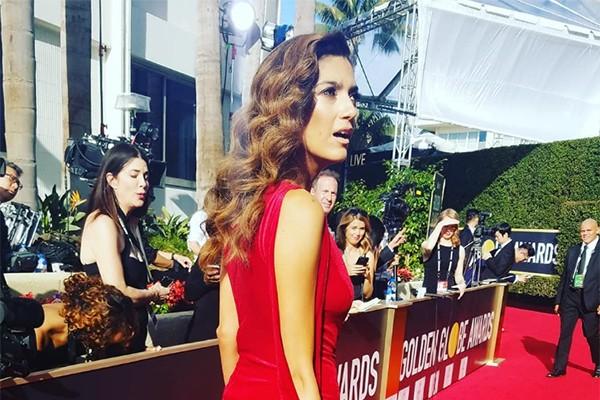 Blanca Blanco no Globo de Ouro de 2018 (Foto: Reprodução / Instagram)