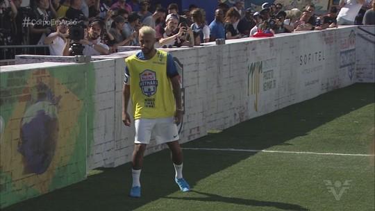 Atletas de várias partes do mundo participam de torneio com Neymar em Praia Grande