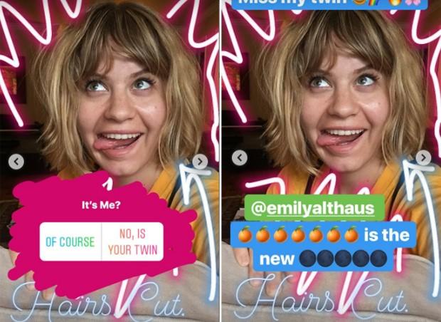Carolinie Figueiredo brinca com semelhança com Emily Althaus (Foto: Reprodução / Instagram)