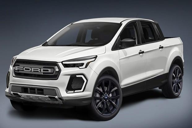 Nova picape da Ford pode ser rival da Fiat Toro (Foto: Reprodução)