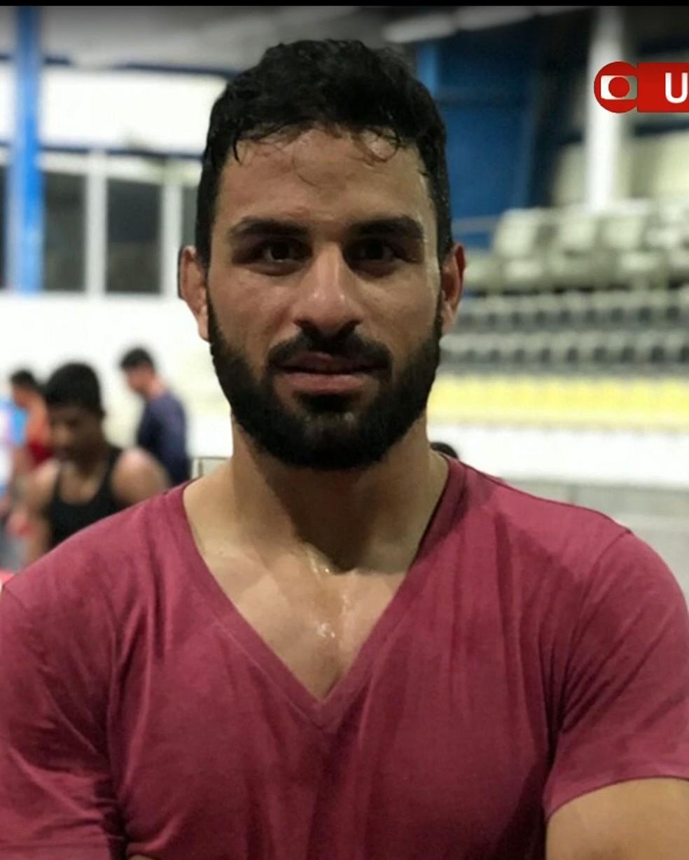 Foto de arquivo mostra o lutador iraniano Navid Afkari, que foi executado neste sábado (12)  — Foto: Reprodução/ Globonews