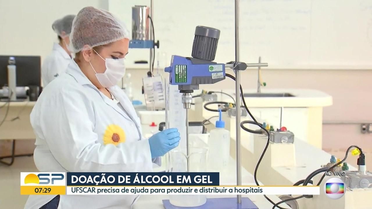 UFSCAR precisa de ajuda pra produzir e distribuir álcool em gel a hospitais