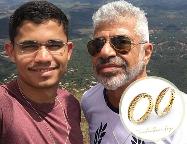 Clebson Teixeira e Lulu Santos (Foto: Reprodução/ Instagram)