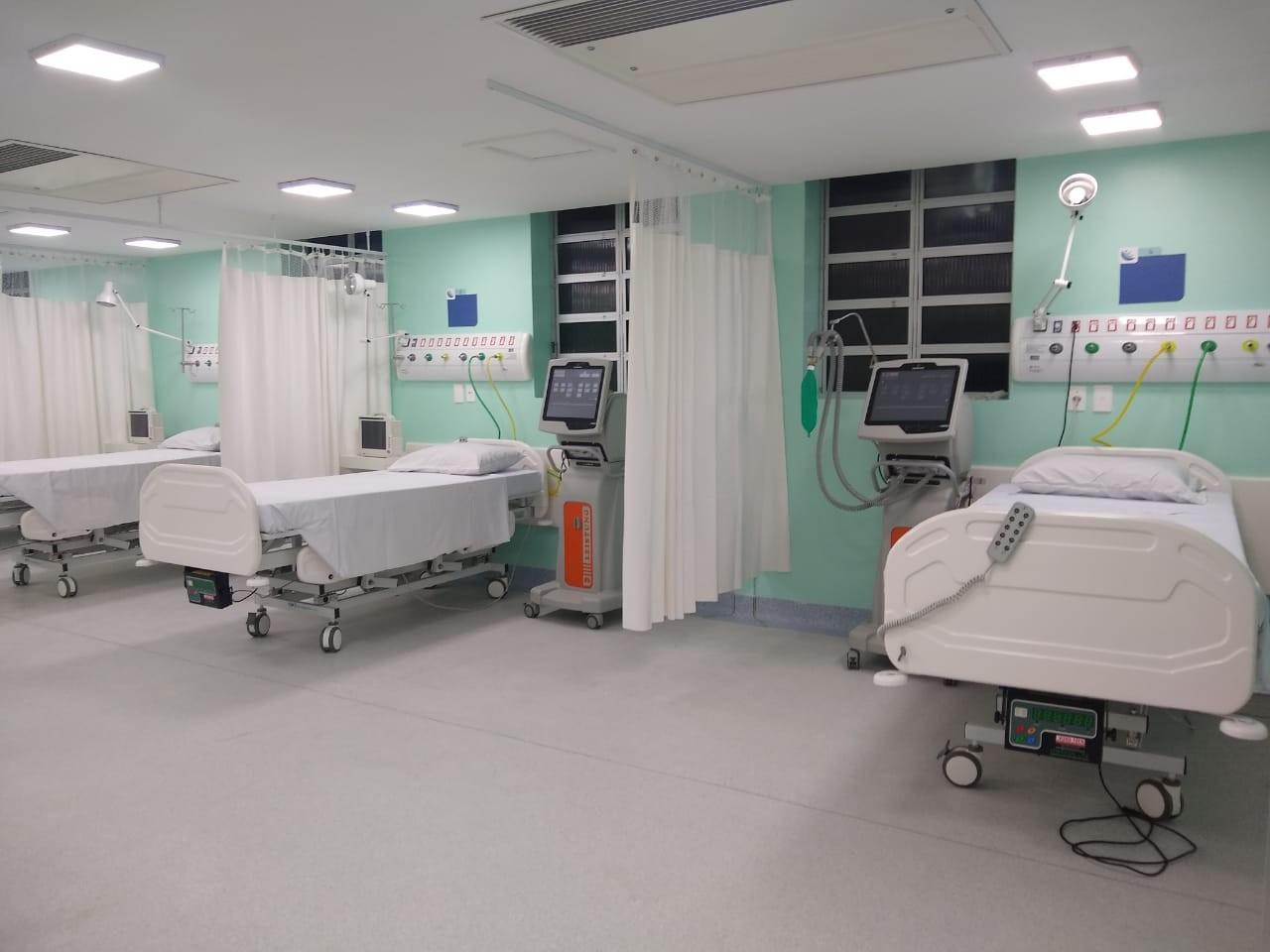 Dez leitos de UTI são inaugurados no hospital de Laguna
