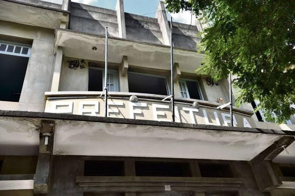 Sede da Prefeitura Municipal, em Muqui, Região Sul do ES — Foto: Divulgação/Governo do ES