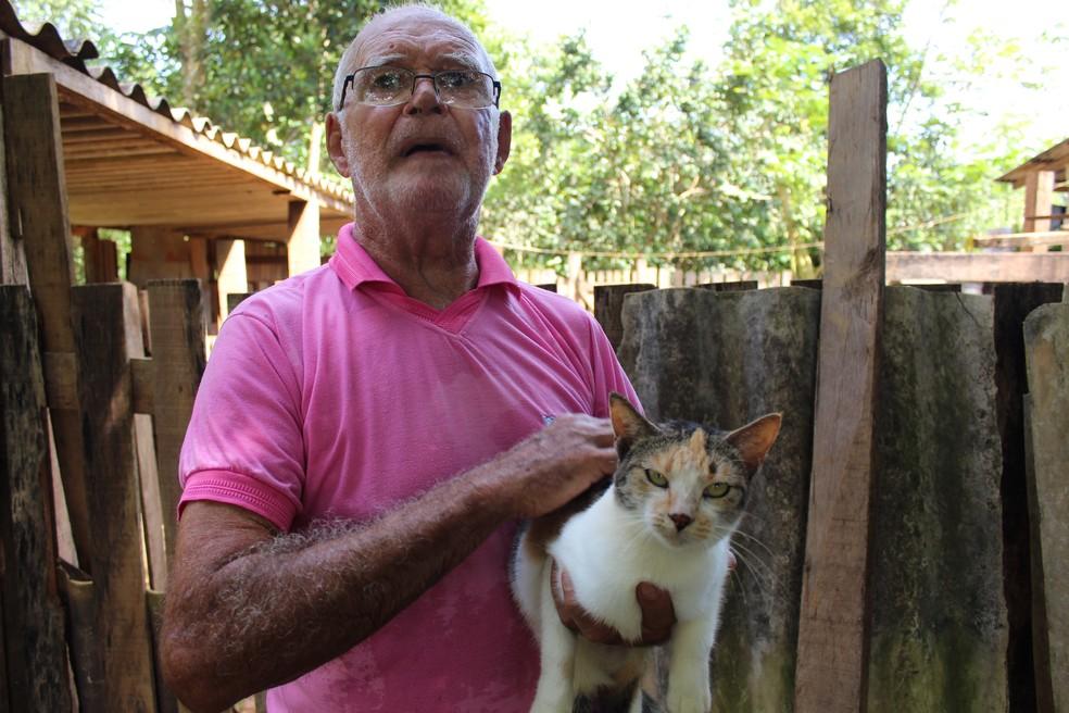 Cães e gatos são mantidos no local — Foto: Cássia Firmino/G1