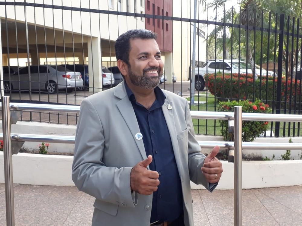 Candidato a governador, Valclei Queiroz é natural de Porto Velho (Foto: Pedro Bentes/G1)