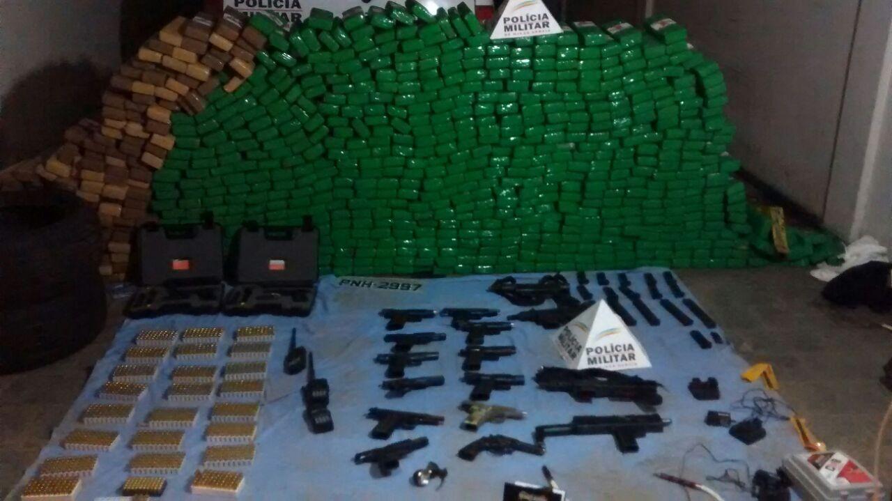 Polícia apreende cerca de meia tonelada de maconha em Divisa Alegre, Norte de MG; droga saiu do Paraguai, segundo a PM