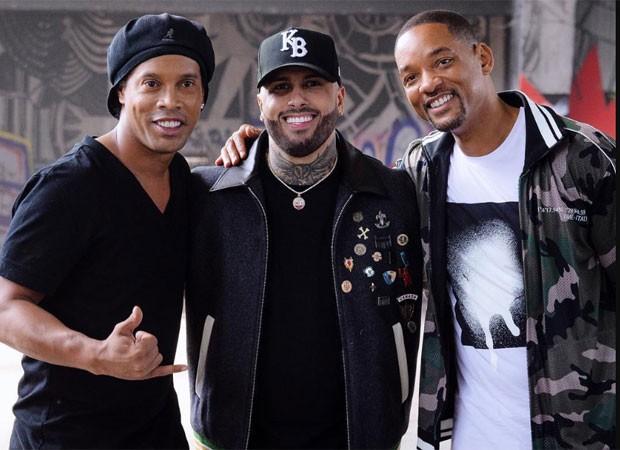 Ronaldinho, Will Smith e Nick Jam (Foto: Reprodução)