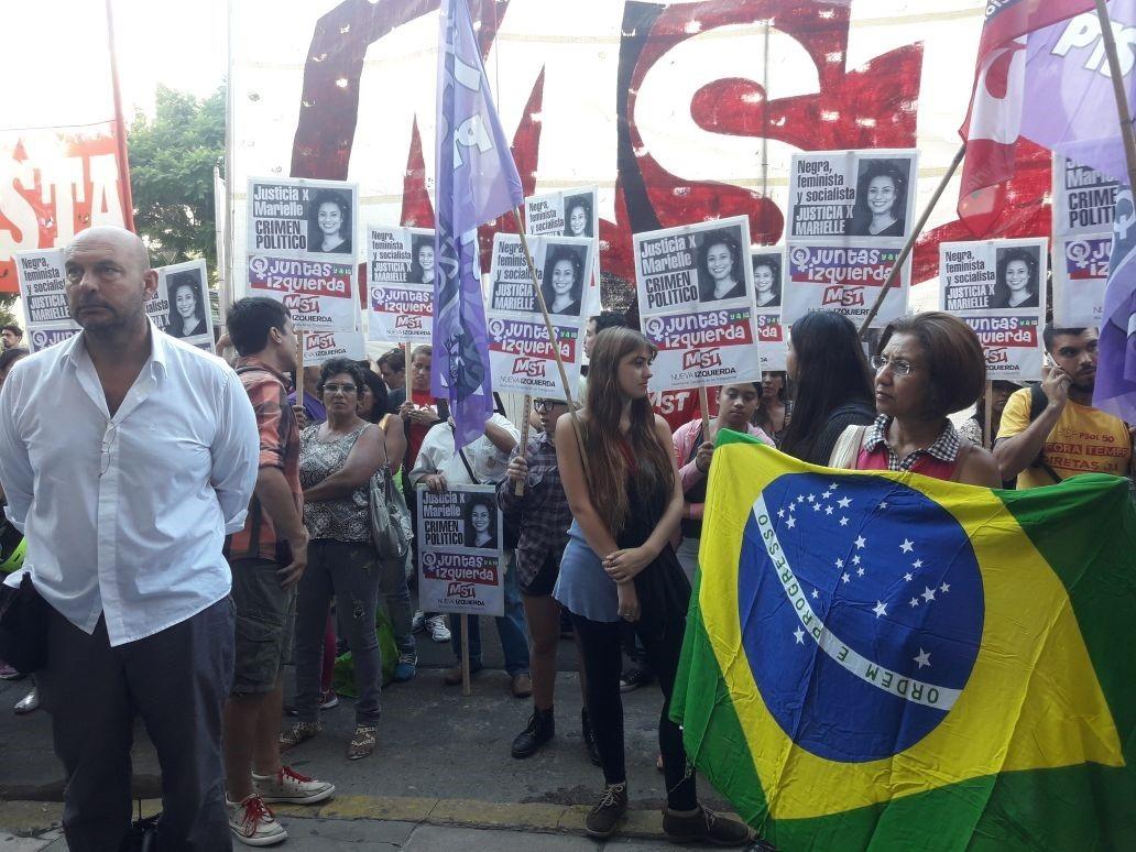 Buenos Aires tem protesto pela morte de Marielle Franco