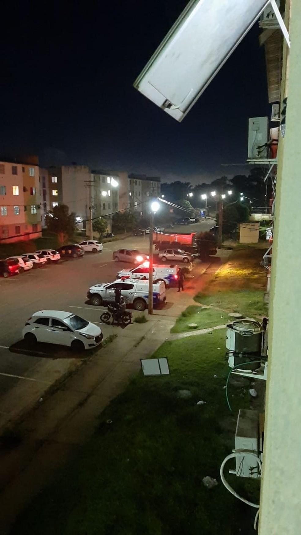 Menina de 4 anos caiu do 4º andar de bloco do condomínio Orgulho do Madeira, em Porto Velho.  — Foto: Polícia Civil/Divulgação