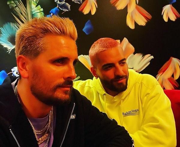 O músico colombiano Maluma e o playboy e empresário norte-americano Scott Disick (Foto: Instagram)