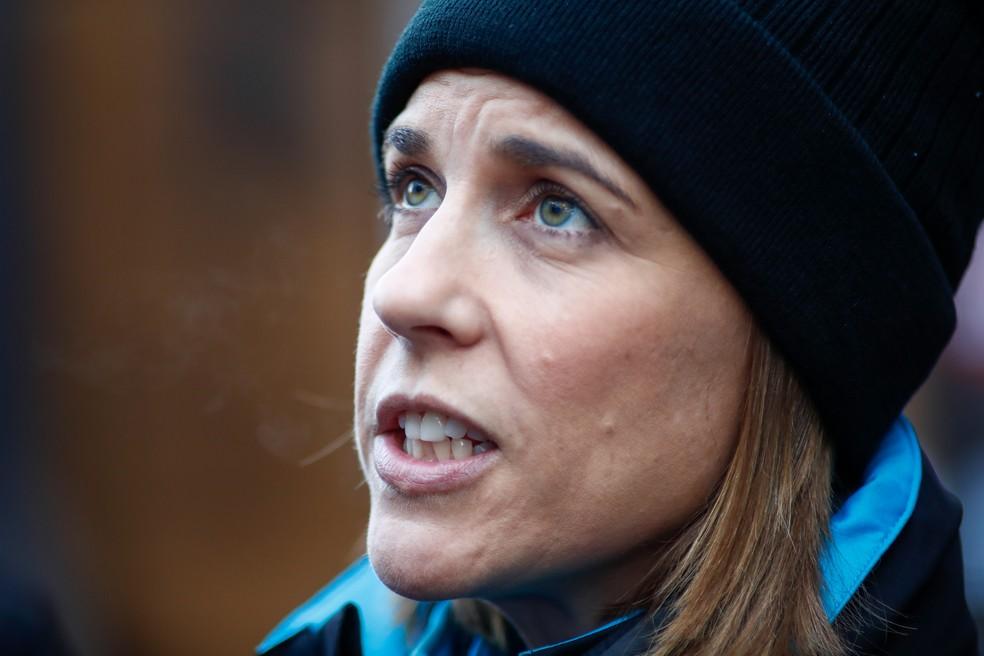 Claire Williams é chefe da equipe que leva seu sobrenome — Foto: Getty Images