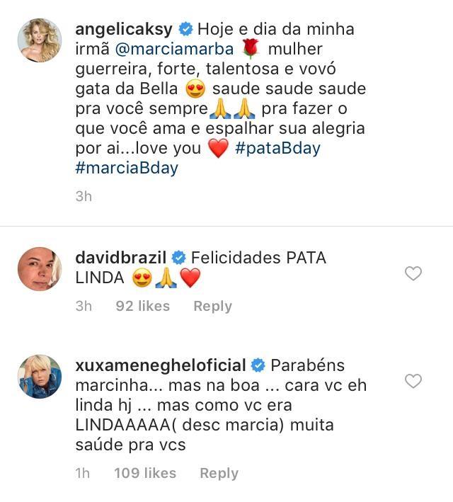 Xuxa elogia Angélica em foto de quando era uma bebê (Foto: Reprodução / Instagram)