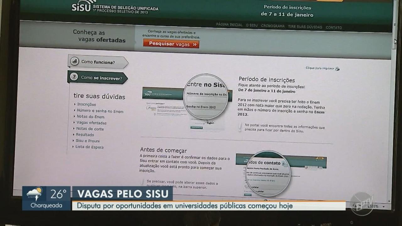 Sisu abre inscrições para quase 210 mil vagas em universidades públicas de todo o Brasil